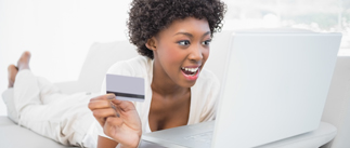 Woman reviewing financing options